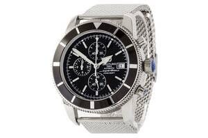 Breitling Superocean Heritage Chronographe Bracelet Silver-Black
