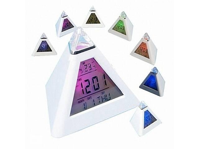 Часы будильник хамелеон в виде пирамиды- объявление о продаже  в Харькове