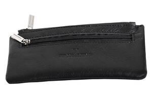 Чехол для ключей кожаный Vip Collection 124-F  Черный
