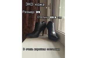 Черные ботильоны р. 39