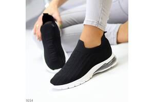 Черные текстильные женские кроссовки, женские кроссовки Socks 38,40р