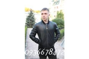 Чоловіча куртка бомбер з справжньої натуральної шкіри