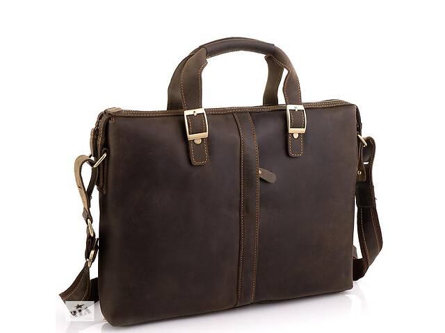 купить бу Деловая мужская кожаная сумка для ноутбука и документов Tiding Bag  TdngBgD4-004R в Киеве