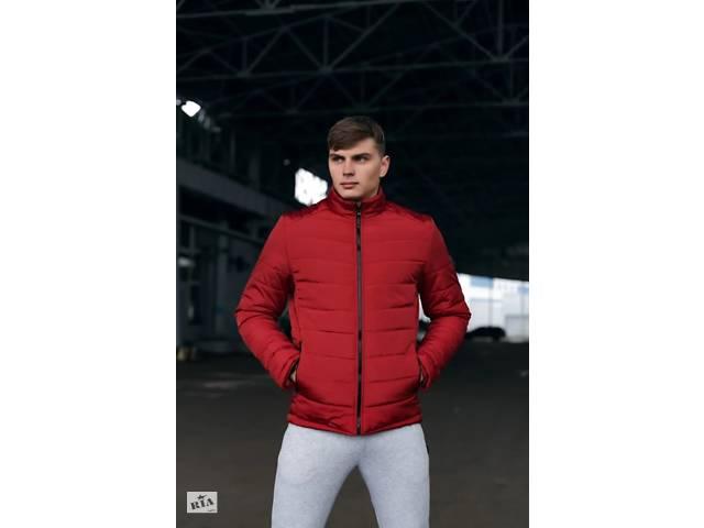 продам Демисезонная мужская теплая красная куртка Весна-Осень SKL59-259591 бу в Киеве