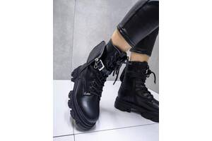 ТОЛЬКО 41р. Демисезонные ботинки Prada, ботинки с карманом 41р-26 см