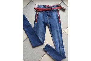Детские крутые подростковые джинсы с пояском Гуччи