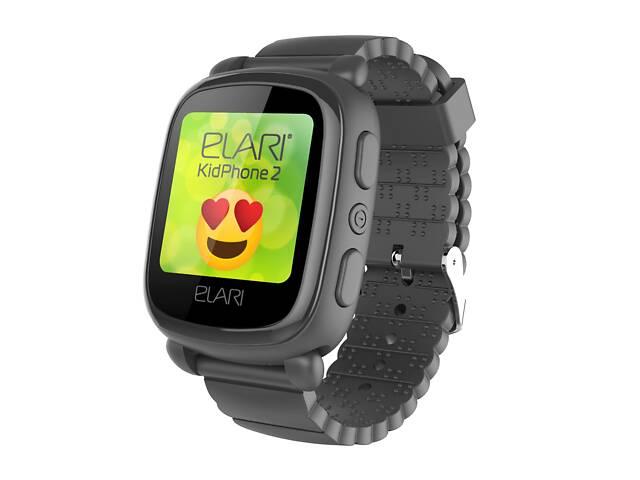 Детские смарт-часы Elari KidPhone 2 с GPS-трекером Black (KP-2B)- объявление о продаже  в Киеве