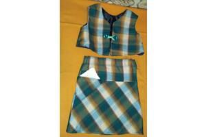 Детский костюмчик комплект для девочки – жилет и юбка на 2-5 лет