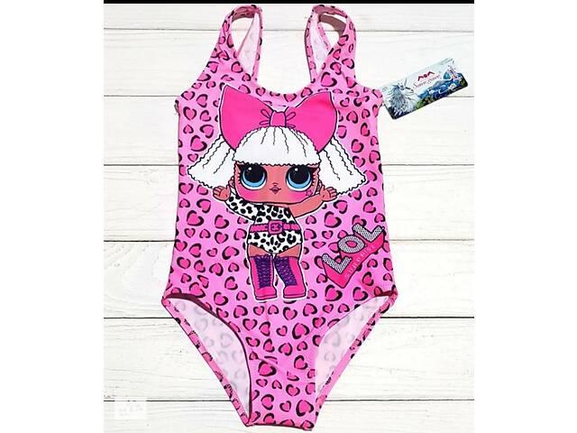 купить бу Детский купальник слитный р.6  куколка лол розовый в Харькове