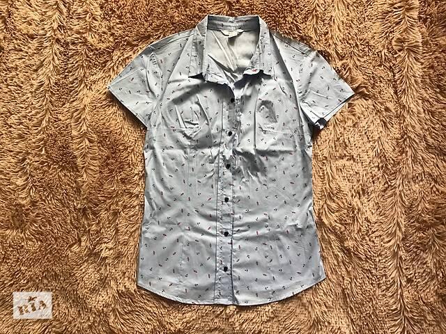 купить бу новая голубая рубашка Ostin в Харькове