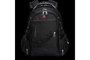 Міський ергономічний рюкзак Swissgear 8810 з USB Чорний (20053100010)