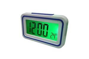 Говорящие настольные часы Kk-9905tr с подсветкой, dark blue вставка