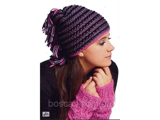Комплект женская молодежная шапка и митенки