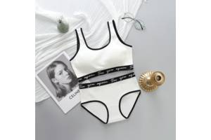 Комплект женского белья топ и трусики белый SKL11-292570