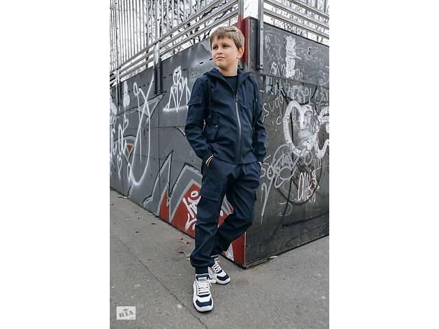 купить бу Костюм для мальчиков куртка и штаны демисезонный Softshell Easy синий SKL59-291138 в Харькове