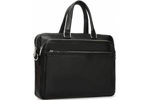 Кожаная мужская сумка RoyalBag черный