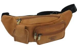 Кожаная сумка на пояс  Always Wild LB2509HLTAN рыжая