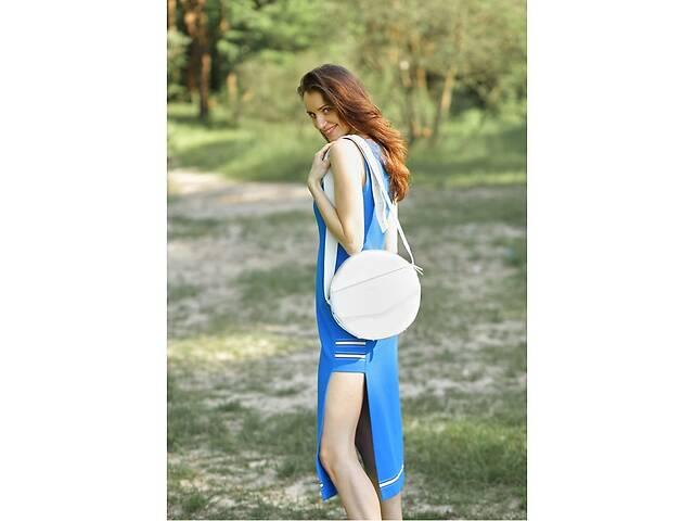 продам Кожаная женская круглая сумка-рюкзак Maxi белая BlnkntBN-BAG-30-light бу в Киеве