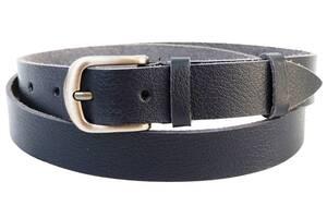 Кожаный женский ремень Skipper темно синий 2,5 см