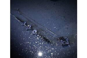 Кулон (колье) и браслет с камнями сваровски.