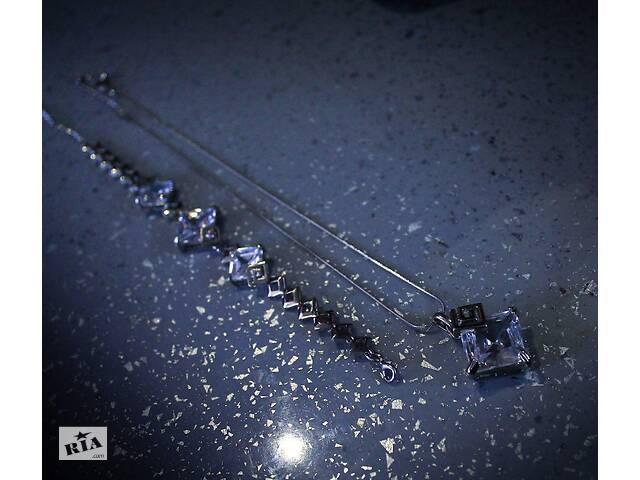 купить бу Кулон (колье) и браслет с камнями сваровски. в Одессе