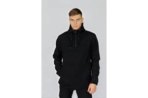 Куртка анорак мужская черная Walkman демисезонная и Ключница в подарок SKL59-283345