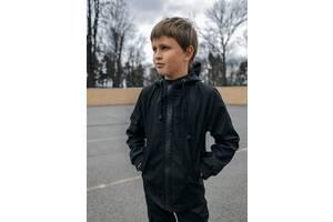 Куртка для мальчика черная демисезонная Softshell Easy SKL59-291142