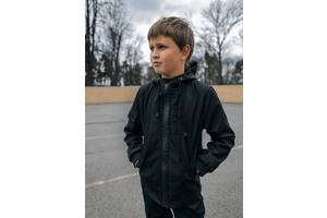 Куртка для хлопчика чорна демісезонна Softshell Easy SKL59-291142