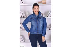 Куртка джинсова батал синя SKL11-260803