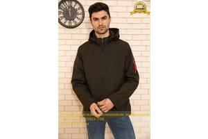 Куртка чоловіча з капюшоном демісезонна колір Хакі 129RD-198