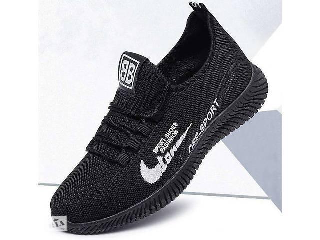 купить бу Легкие мужские кроссовки кеды, 40 - 44 белая вставка, 42 в Хмельницком