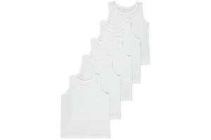 Майка белая набор для мальчика от 4 до 14 лет из 5 штук Джордж. код 191101