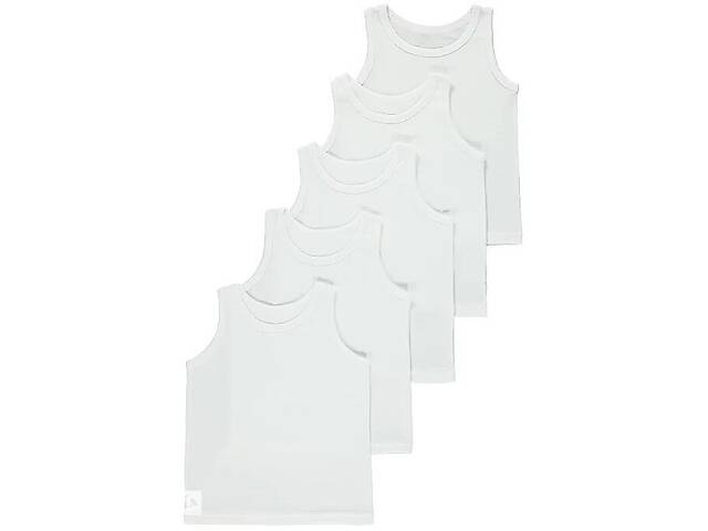 продам Майка белая набор для мальчика от 4 до 14 лет из 5 штук Джордж. код 191101 бу в Киеве