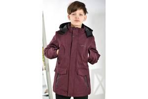 Мембранная демисезонная термо-куртка на мальчика весна-осень 8-13 лет