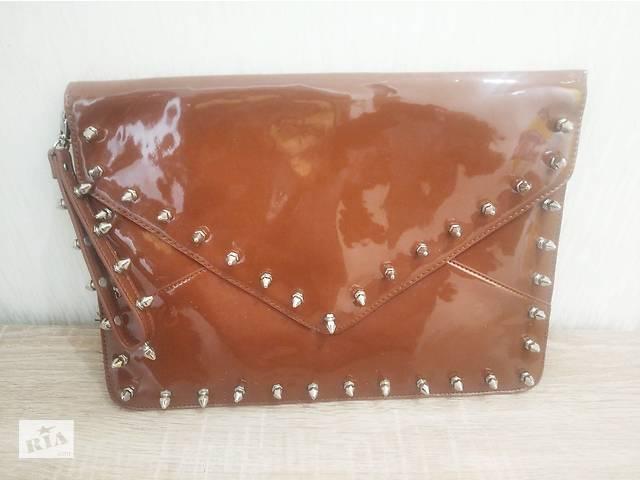 Модна дизайнерська сумка конверт, 35х25 см