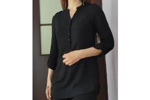 Модная чёрная блузка