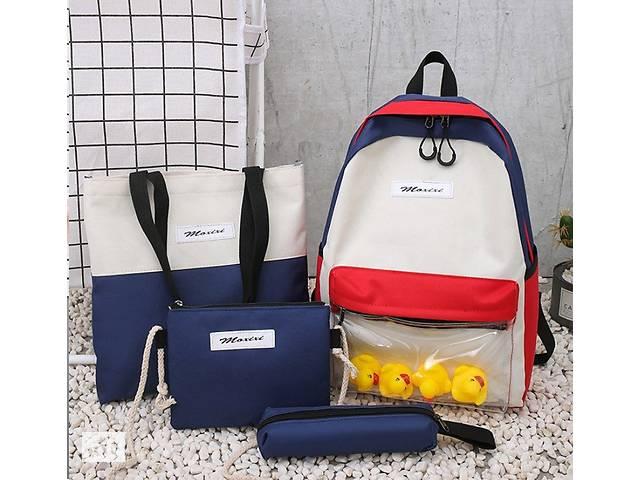 продам Модный большой тканевый набор 4в1 с уточками Рюкзак, сумка, косметичка, пенал бу в Хмельницком