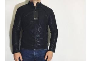 Мужская куртка из эко-кожи Stone Island Стоун Айленд Мрр новая черная