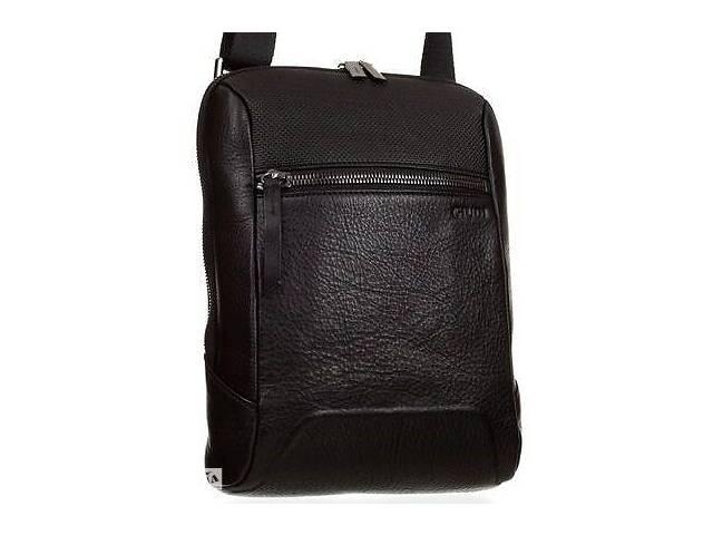 продам Мужская сумка Giudi из натуральной кожи черная бу в Киеве