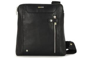 Мужская сумка из натуральной кожи Acciaio Touch черная