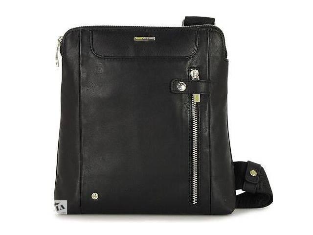 продам Мужская сумка из натуральной кожи Acciaio Touch черная бу в Киеве
