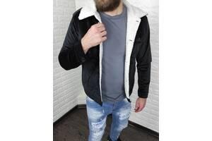 Мужская велюровая куртка на меху