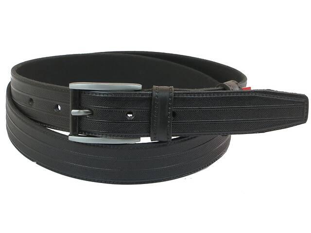 Мужской кожаный ремень под брюки Skipper 1059-33 черный ДхШ: 125х3,3 см.- объявление о продаже  в Киеве