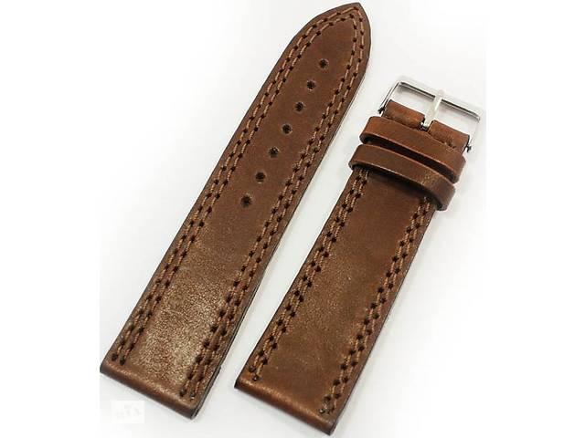 Мужской ремешок для часов, кожаный Mykhail Ikhtyar 8015 коричневый