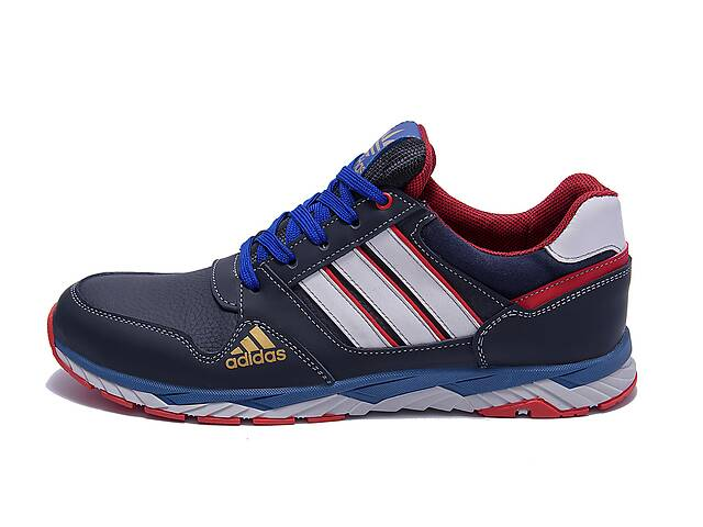купить бу Мужские кожаные кроссовки Adidas Tech Flex Blue (реплика) в Одессе