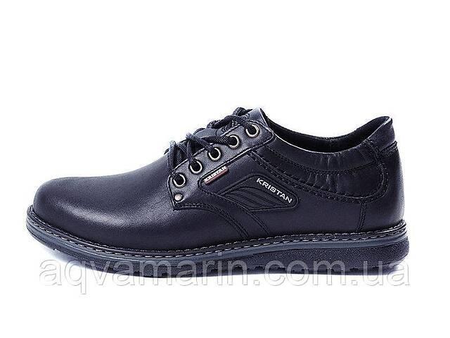 Мужские кожаные туфли Kristan black- объявление о продаже  в Львове