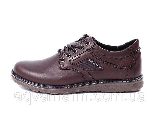 продам Мужские кожаные туфли Kristan brown бу в Львове