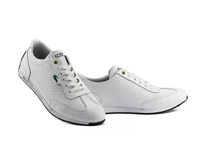 купить бу Мужские кроссовки кожаные летние белые Anser Lerond White в Хмельницком