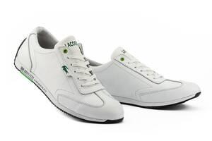 Мужские кроссовки кожаные весна/осень белые Anser Л5 Lerond White