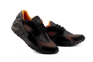 Мужские кроссовки текстильные летние черные-рыжие Twix ХУАР